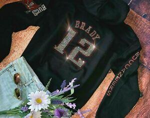New Women's Unisex size XL Tampa Bay Buccaneers Tom Brady #12 Hoodie Sweatshirt
