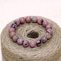Love Pink Quartz Gemstone Beads Bracelet Stretch Healing Crystal Womens Men