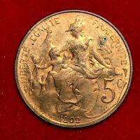 #1814 - RARE - 5 centimes 1902 Dupuis SUP FACTURE