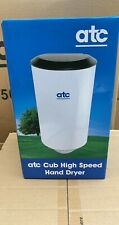 ATC CUB HIGH SPEED COMPACT HAND DRYER - WHITE. BLACK or BRUSHED STEEL