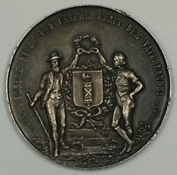1891 St. Gallen Switzerland Silver Swiss Shooting Medal R1167 JA
