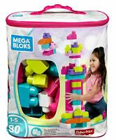 Mattel Mega Bloks Big Building Bag 80 Piece Construction Set - Pink