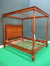 CHOOSE WHITE Black Cream Mahogany Walnut Four poster Canopy Bed 4 wood king post