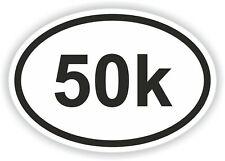 Marathon Oval Pegatina 50k Runner Milla km ejecutar Bicicleta Casco de Bicicleta Coche Camión Embarcación