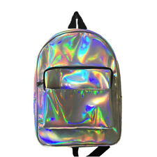 Womens New Fashion Hologram Holographic PVC School Backpack Bag Back To School