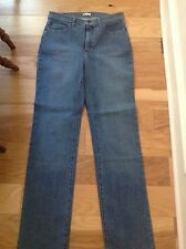 Women's LEE At The Waist Light Blue Denim Stretch Jeans Sz. 10 Long NWOT