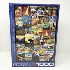 Eurographics Puzzle 1000 Travel USA Vintage Posters New Sealed