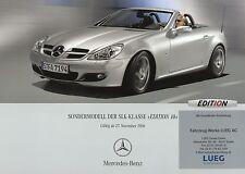 Mercedes SLK Edition 10 Preisliste 27.11.06 Preise 2006 Auto PKWs Deutschland
