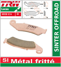 Jeu 2 Plaquettes frein Avant TRW MCB574 SI Sinter  Honda XLR 125 R (JD16) 98-99