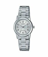 NEW Casio LTPV002D-7B Women's Watch Stainless Steel SILVER Analog DATE Display