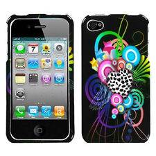 For Apple iPhone 4 4S HARD Protector Case Snap On Phone Cover Love Leopard