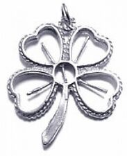 LOOK Lucky Silver 4 Leaf Clover Good luck  charm Shamrock
