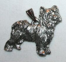 CHINESE CRESTED Powder Puff Dog Harris Fine Pewter Pendant USA Made