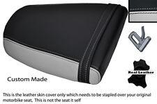 LIGHT GREY & BLACK CUSTOM FITS TRIUMPH SPEED TRIPLE 955 i 01-05 REAR SEAT COVER