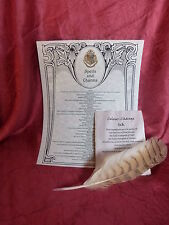Natural Feather Dip Pen Quill, List of Spells, Ink recipe. For Harry Potter fan.