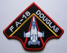 FA-18 HORNET THE MCDONNELL DOUGLAS BLACK Embroidered Iron on Patch Free Shipping