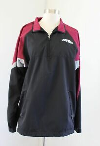 Joe Gibbs Racing Mens Pit Crew Quarter Zip Pullover Windbreaker Jacket Size M