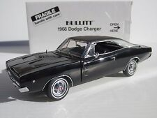 DANBURY MINT, 1968 DODGE CHARGER CHASE CAR, Steve McQueen BULLITT, 1:24 Scale