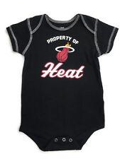 NBA Miami Heat Basketball Babys All in One Bodysuit w/ Snaps Black Unisex 18M