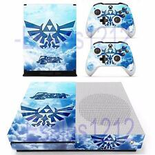 Xbox One S Slim Console Skin Legend of Zelda Anime Decals Stickers 2 Controllers