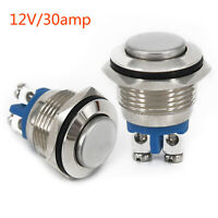 Metal Button Switch Momentary Push - On Heavy Duty 20A @ 12V Fit 19mm Round Hole