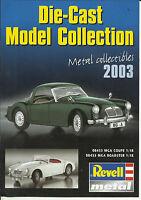 Katalog Revell 2003 Metall Fertigmodelle 1:18 Trucks 1:24 Flugzeuge 1:72