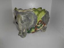 Fitz & Floyd Classics Exotic Jungle Elephant Bowl Safari Centerpiece