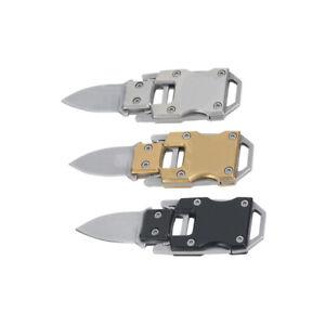 1x Mini Stainless Steel Outdoor Folding Knife Pocket EDC Keychain Survival Tool