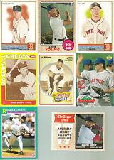 BOSTON RED SOX 34 DIFFERENT MLB BASEBALL CARD LOT TED WILLIAMS DAVID ORTIZ PLUS!