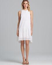TIBI Dress Kay Eyelet in White Cotton Sleeveless Size 4 EUC