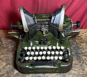 Vintage Oliver No. 9 Typewriter For Parts or Restore