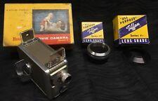 Vintage KODAK Brownie 8mm MOVIE CAMERA and Tiffen Series 7 Lens Shades Lot