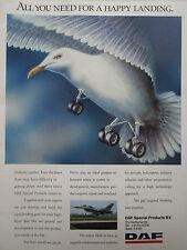 4/1990 PUB DAF SPECIAL PRODUCTS NETHERLANDS F-16 BIRD GULL LANDING ORIGINAL AD