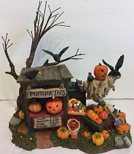 Dept 56 Halloween Pumpkin Stand Jack O Lantern Scarecrow Crows Decoration Sale