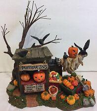 Dept 56 Halloween Pumpkin Stand Jack O Lantern Scarecrow Crows Decoration Sale