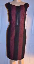 WORTH Blue/Pink Raspberry/Blueberry Striped Sleeveless Sheath Dress size 10 NWT