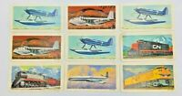 """Blue Ribbon Coffee/Tea """"Transportation Through The Ages"""" Lot Of 9  Premium Cards"""
