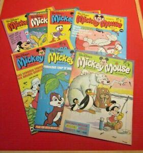 Walt Disney's Mickey Mouse 7 comics From 1978 Bundle Lot 6