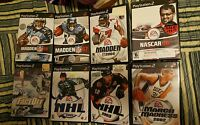 Most Complete;Madden 07,& 08 & 04,March Mad 2002,Nhl 2001 & 2003&Faceoff.ps2 Lot