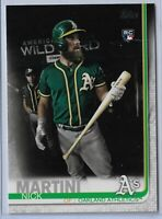 2019 Topps Series 2 Baseball Short Print Variation Nick Martini #618 Oakland