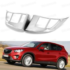 2pcs Chrome Car Steering Wheel Cover Decoration Trim for Mazda CX-5 12-15