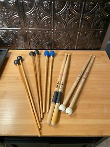 Lot of percussion sticks and mallets
