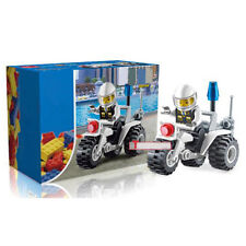 Baby Police Motorcycle Building Blocks Kids Developmental Motorbike Brick Toys