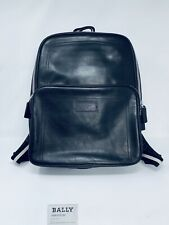 Rare BALLY Luxury Backpack Double Black Leather Transfer/280 Sold Out Production