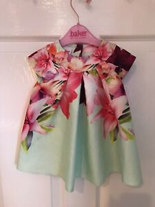 STUNNING GENUINE TED BAKER BABY GIRLS SUMMERY PARTY DRESS AGED 3-6m
