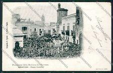 Foggia San Severo Processione PIEGA cartolina QQ4896