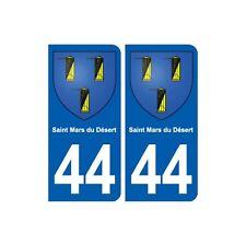 44 Saint-Mars-du-Désert blason ville autocollant plaque stickers arrondis