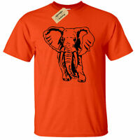Mens Elephant T-Shirt Animal Graphic