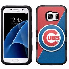 for Samsung Galaxy S7 Armor Impact Hybrid Cover Case Chicago Cubs #J