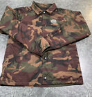 Vans Camo Snap Button Jacket Youth Boy's Size Medium